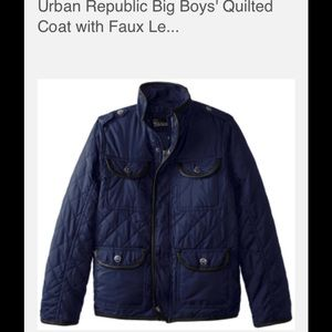 Urban Republic boy navy quilted jacket size 14/16
